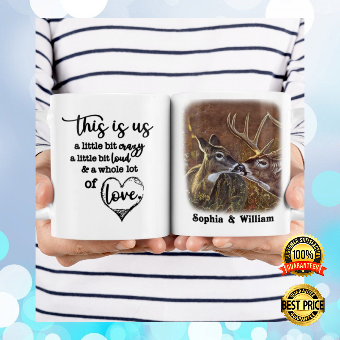 PERSONALIZED DEER COUPLE THIS IS US MUG 7