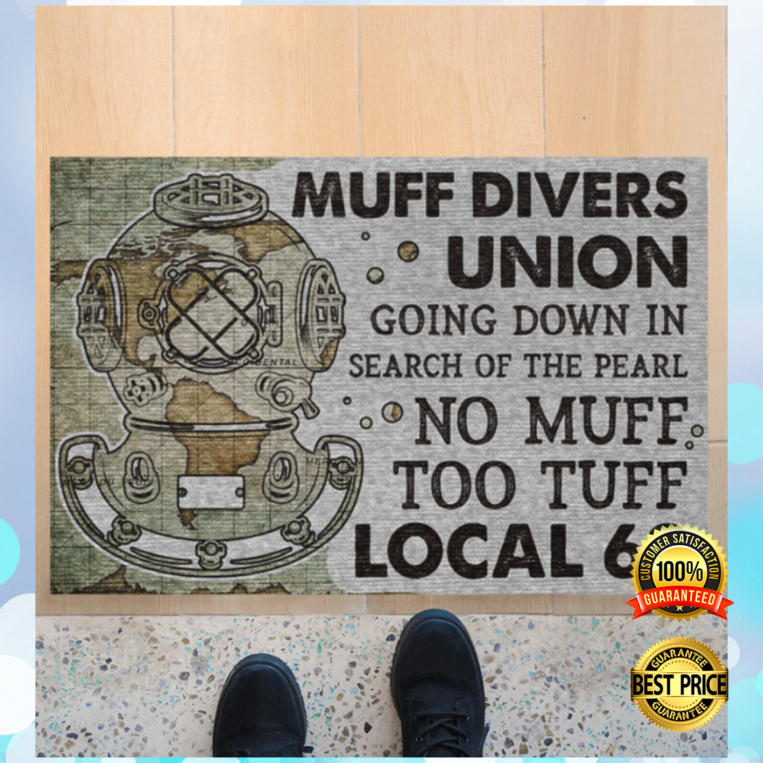 MUFF DIVERS UNION GOING DOWN IN SEARCH OF THE PEARL DOORMAT 7