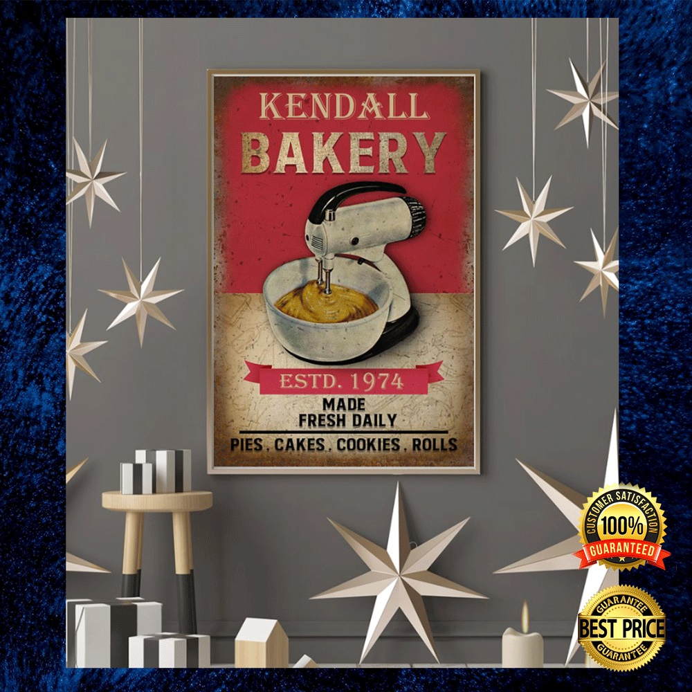 PERSONALIZED BAKERY ESTD 1974 MADE FRESH DAILY POSTER 4
