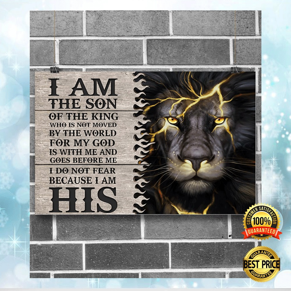LION I AM THE SON OF THE KING POSTER 4