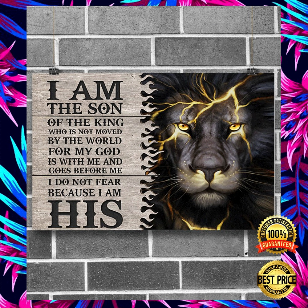 LION I AM THE SON OF THE KING POSTER 3