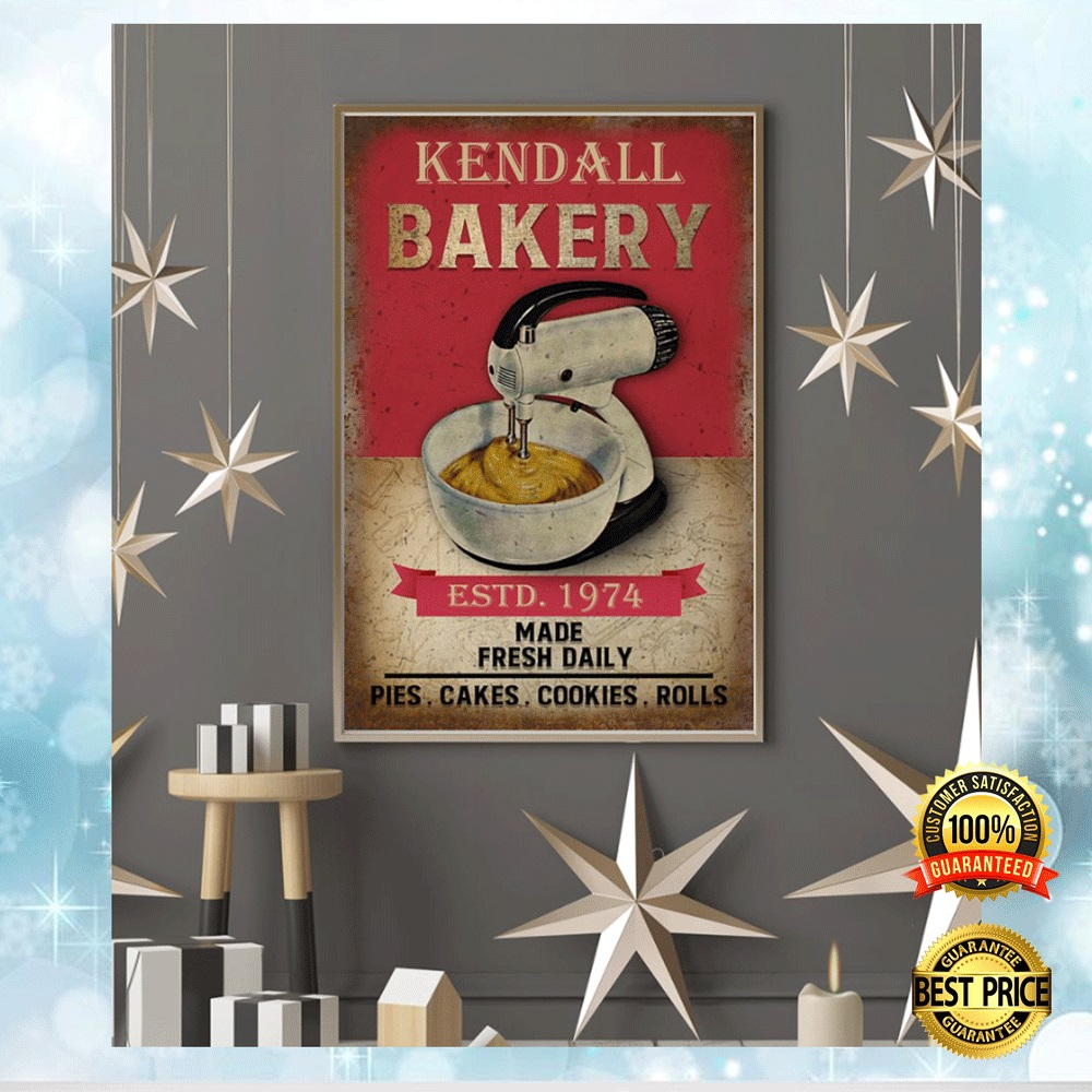 PERSONALIZED BAKERY ESTD 1974 MADE FRESH DAILY POSTER 6