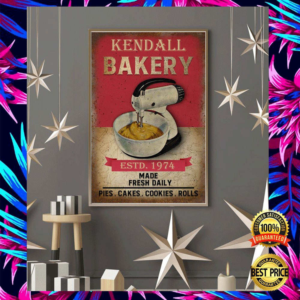 PERSONALIZED BAKERY ESTD 1974 MADE FRESH DAILY POSTER 5