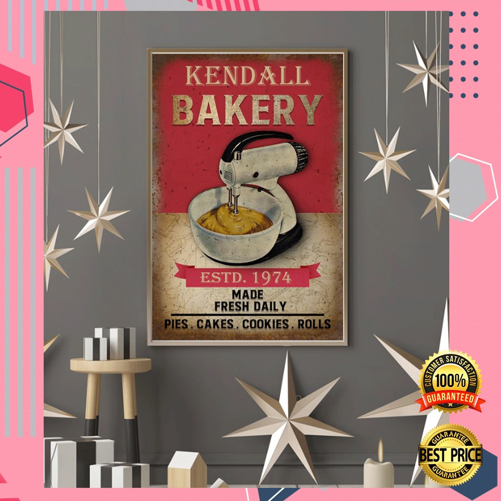 PERSONALIZED BAKERY ESTD 1974 MADE FRESH DAILY POSTER 3