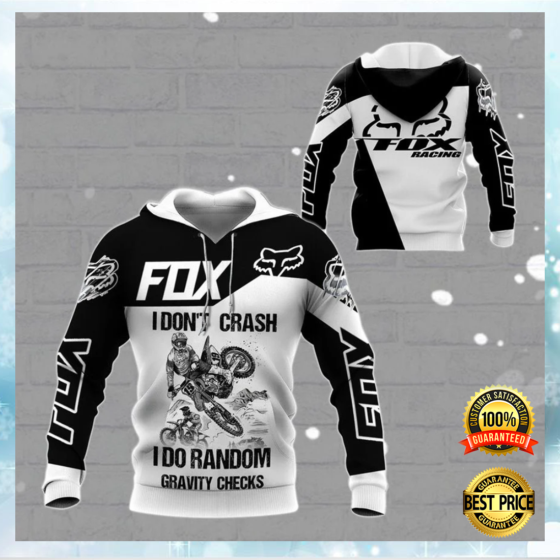 Fox Racing live to ride ride to live go fuck yourself all over printed 3D hoodie 6