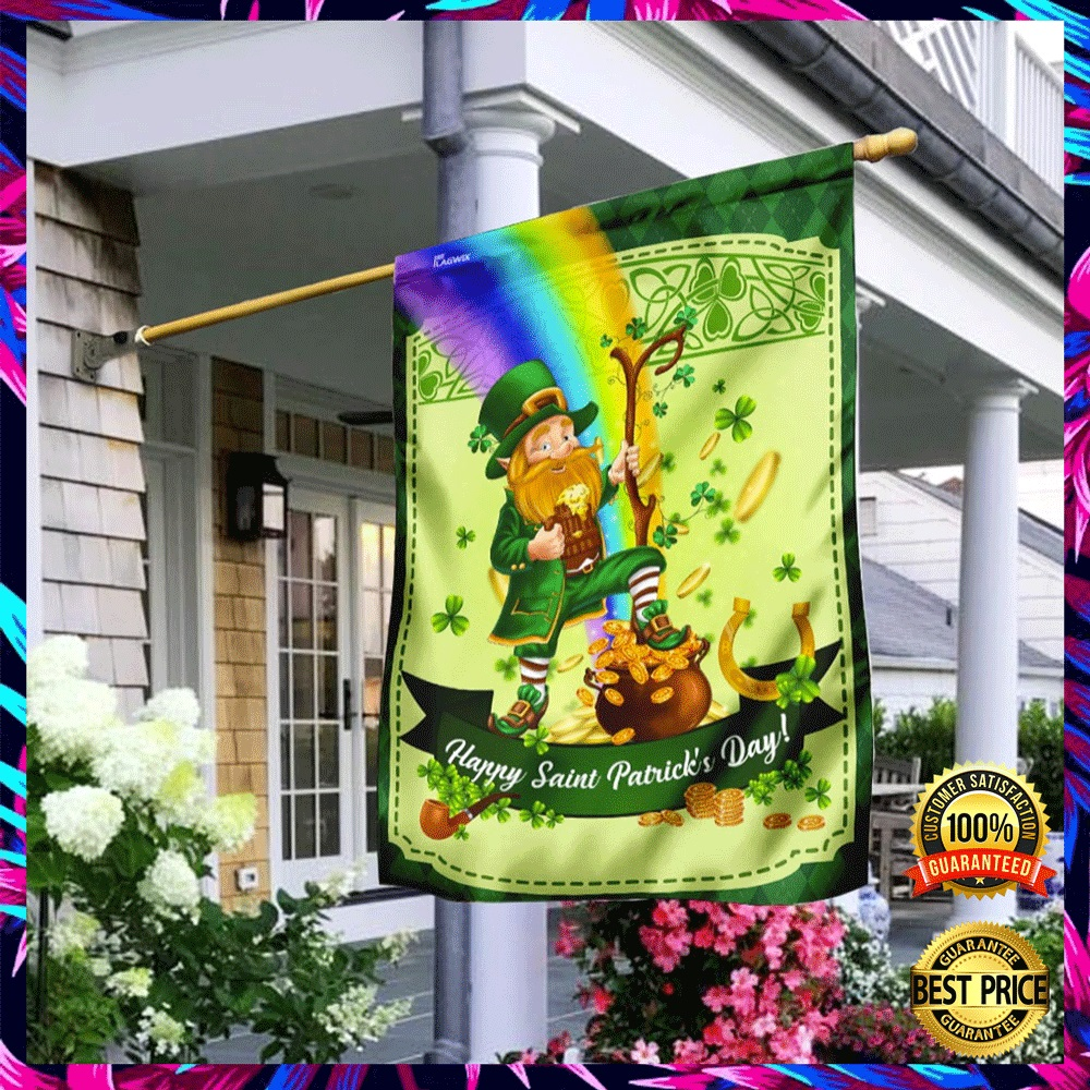 LEPRECHAUN HAPPY SAINT PATRICK'S DAY FLAG 4