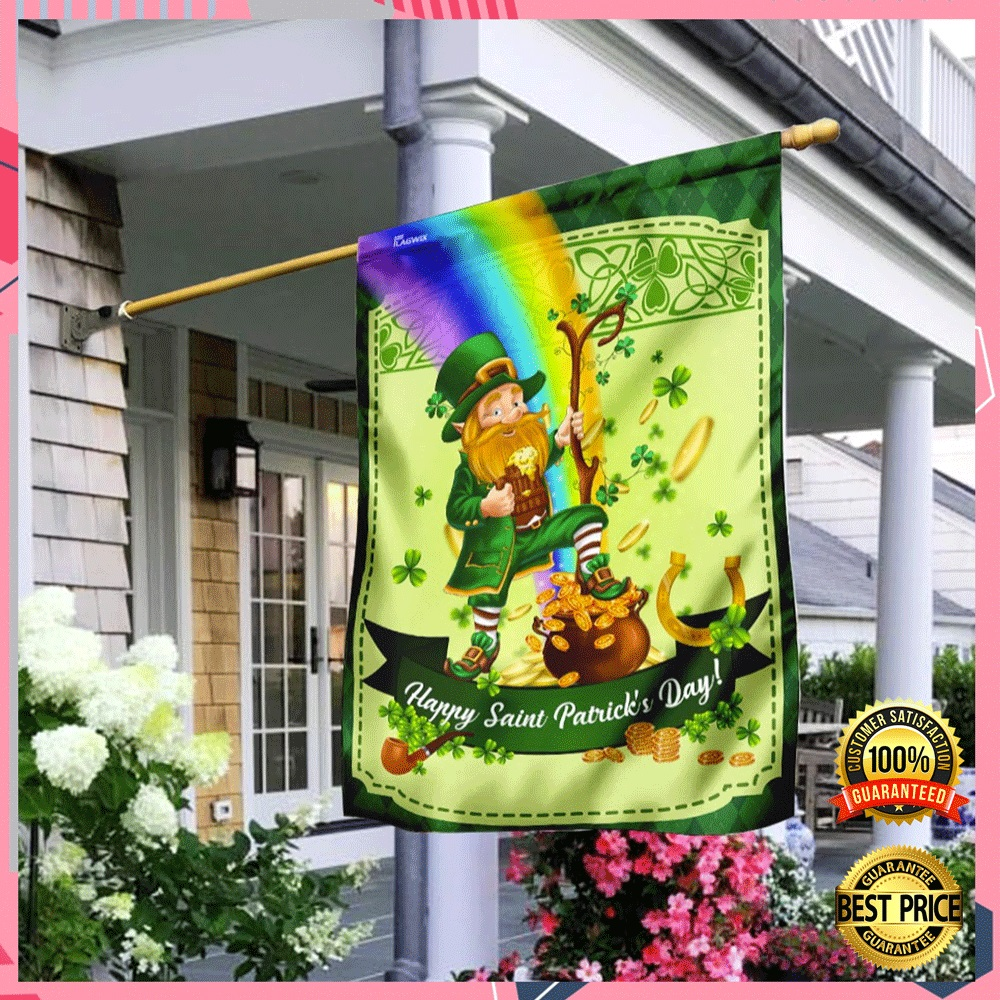 LEPRECHAUN HAPPY SAINT PATRICK'S DAY FLAG 6