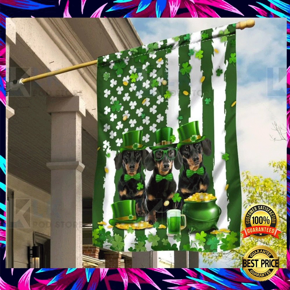 DACHSHUND ST. PATRICK'S DAY FLAG 4