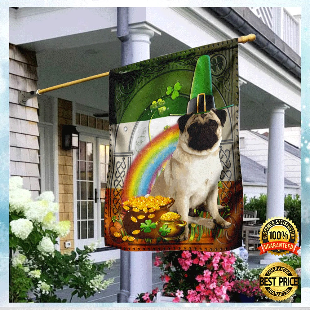 PUG ST. PATRICK'S DAY FLAG 7