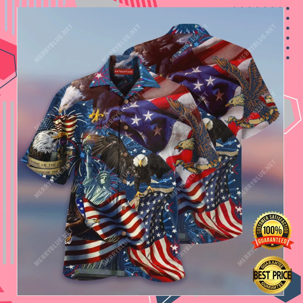 AMERICAN PATRIOTIC EAGLE HAWAIIAN SHIRT 7