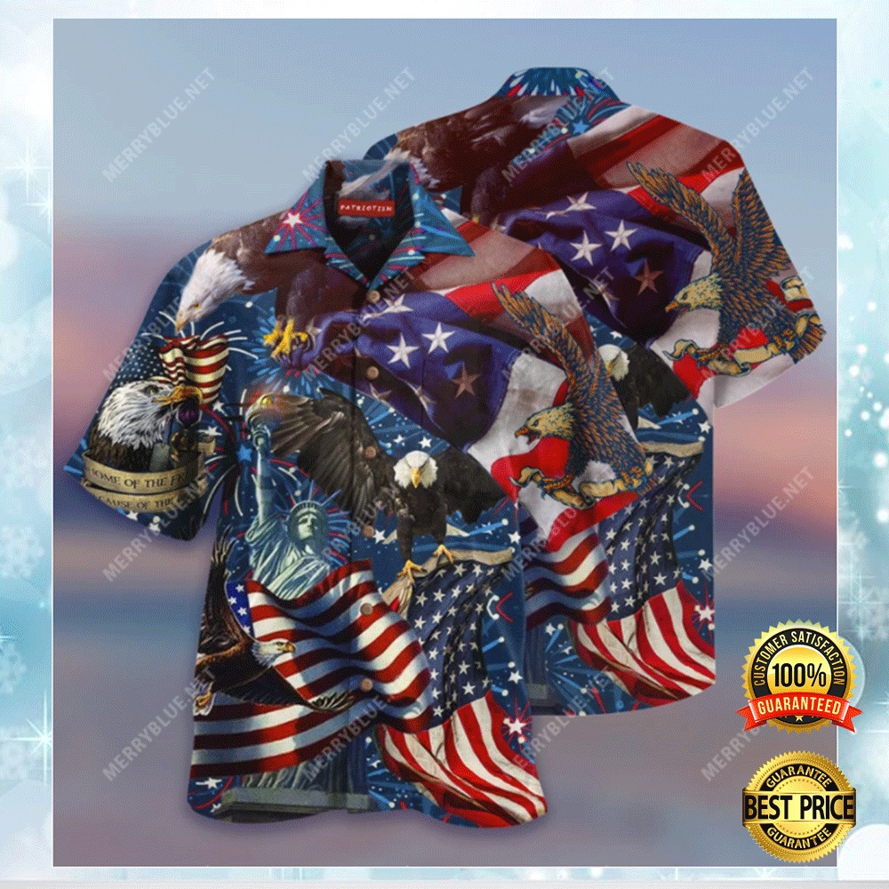 AMERICAN PATRIOTIC EAGLE HAWAIIAN SHIRT 5