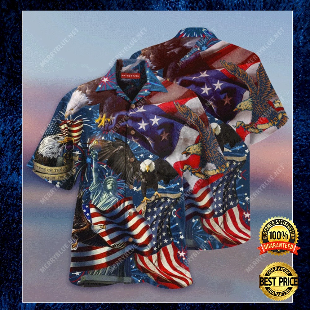 AMERICAN PATRIOTIC EAGLE HAWAIIAN SHIRT 6
