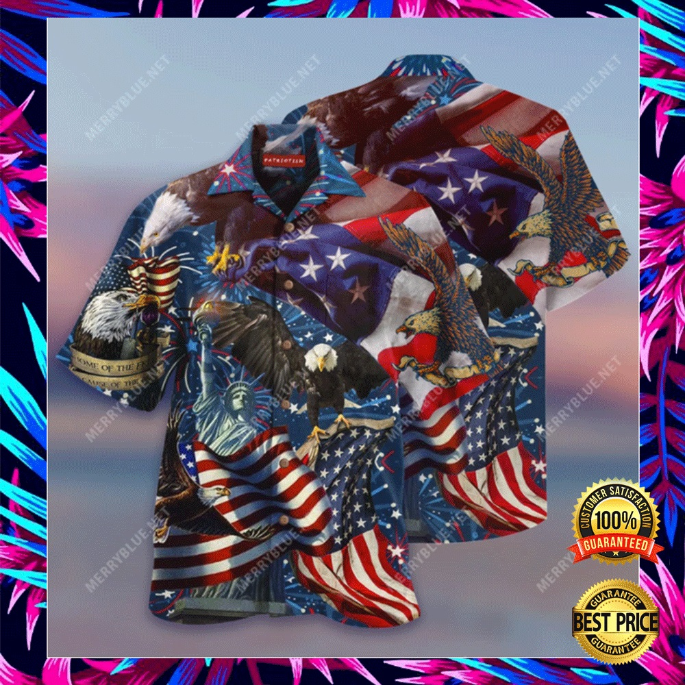 AMERICAN PATRIOTIC EAGLE HAWAIIAN SHIRT 4