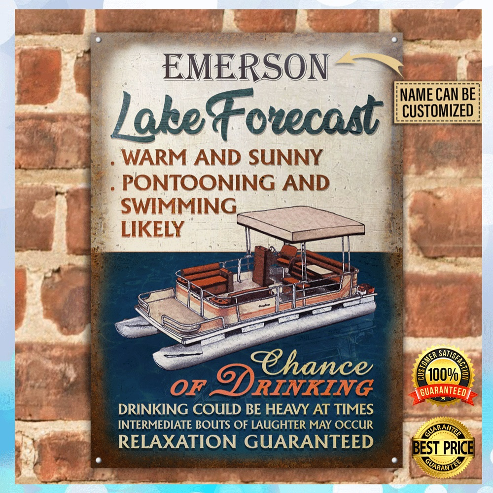 [Nice] PERONALIZED LAKE FORECAST POSTER