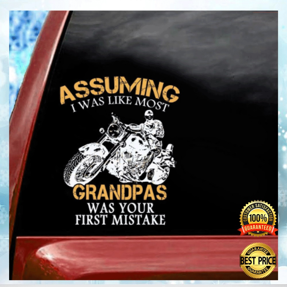 MOTOCYCLE ASSUMING I WAS LIKE MOST GRANDMAS WAS YOUR FIRST MISTAKE STICKER 4