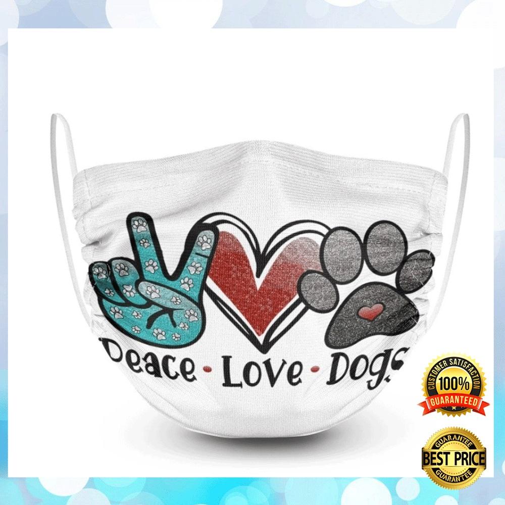 PEACE LOVE DOGS FACE MASK 6