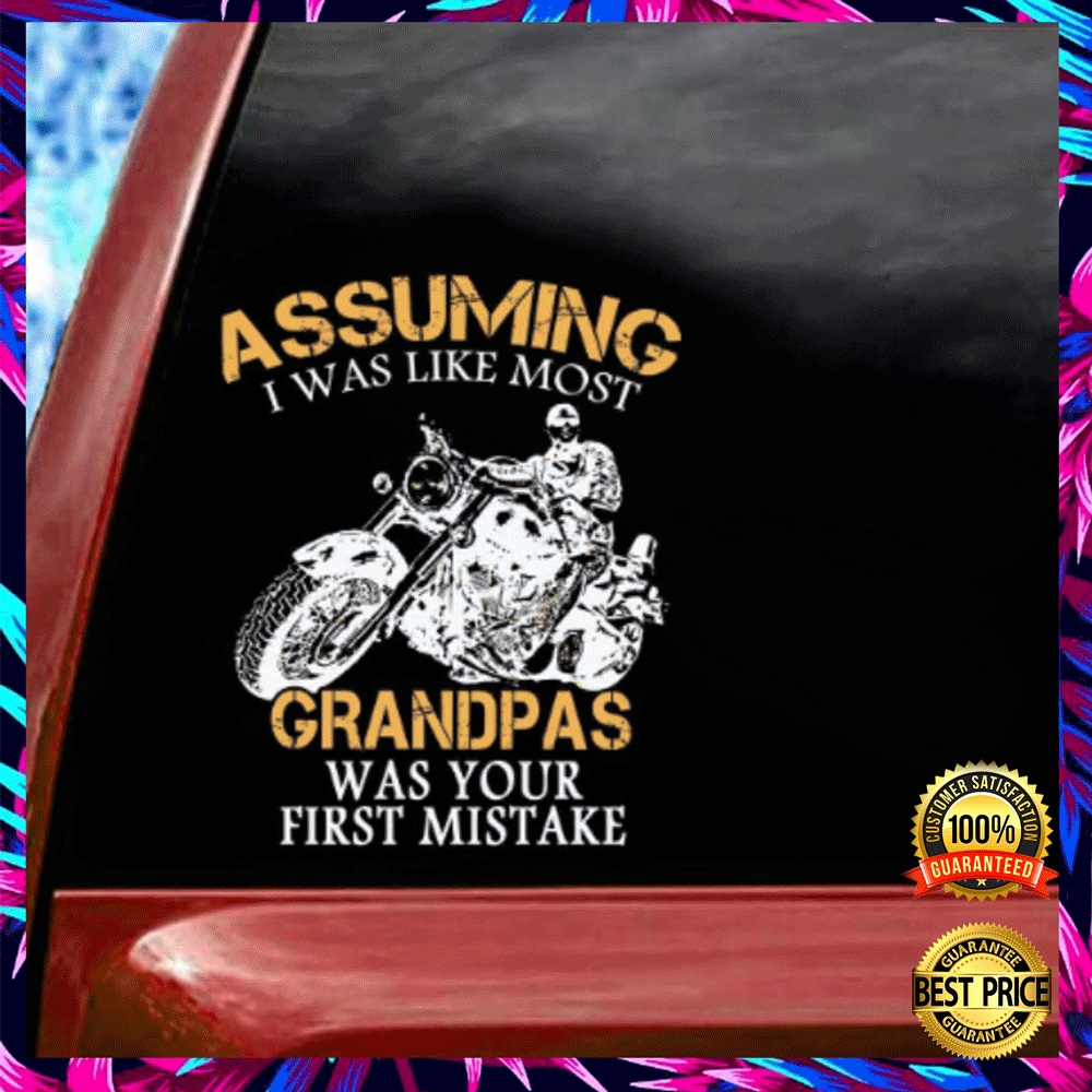 MOTOCYCLE ASSUMING I WAS LIKE MOST GRANDMAS WAS YOUR FIRST MISTAKE STICKER 5