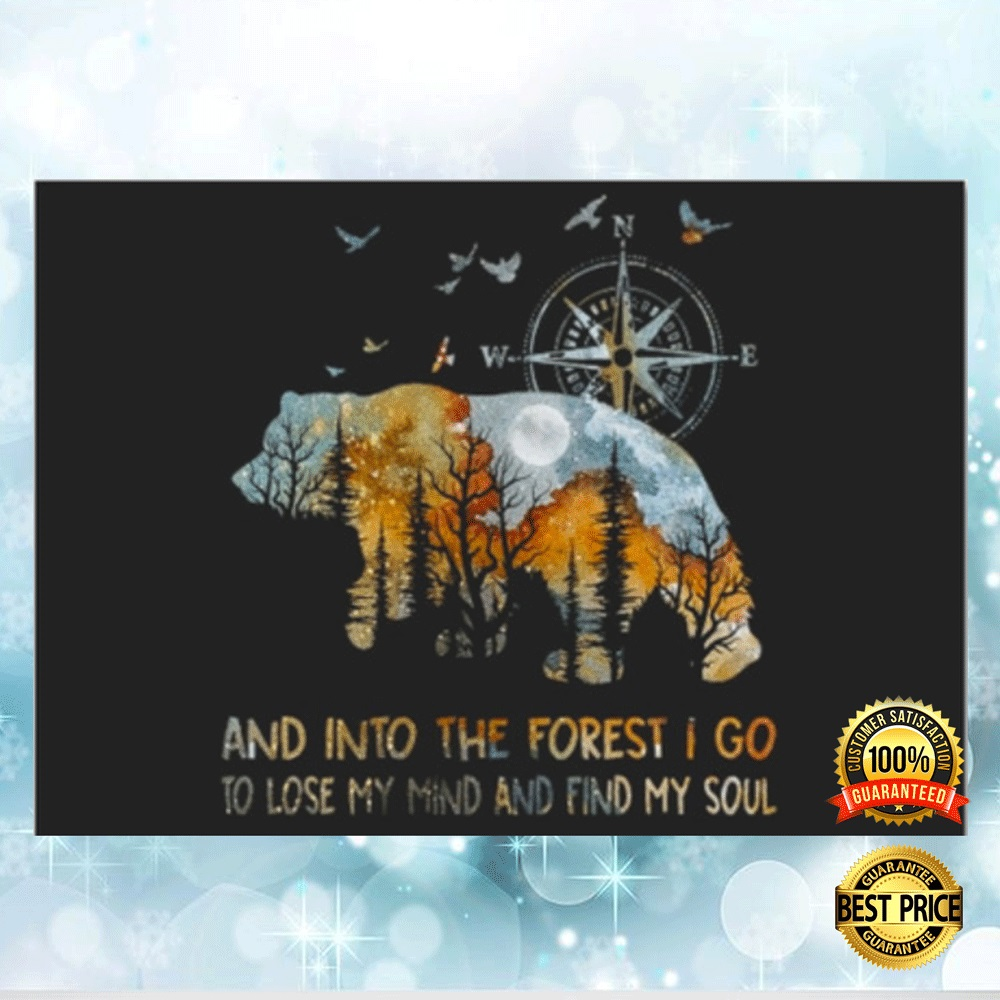 [Great] Bear And Into The Forest I Go To Lose My Mind And Find My Soul Sticker