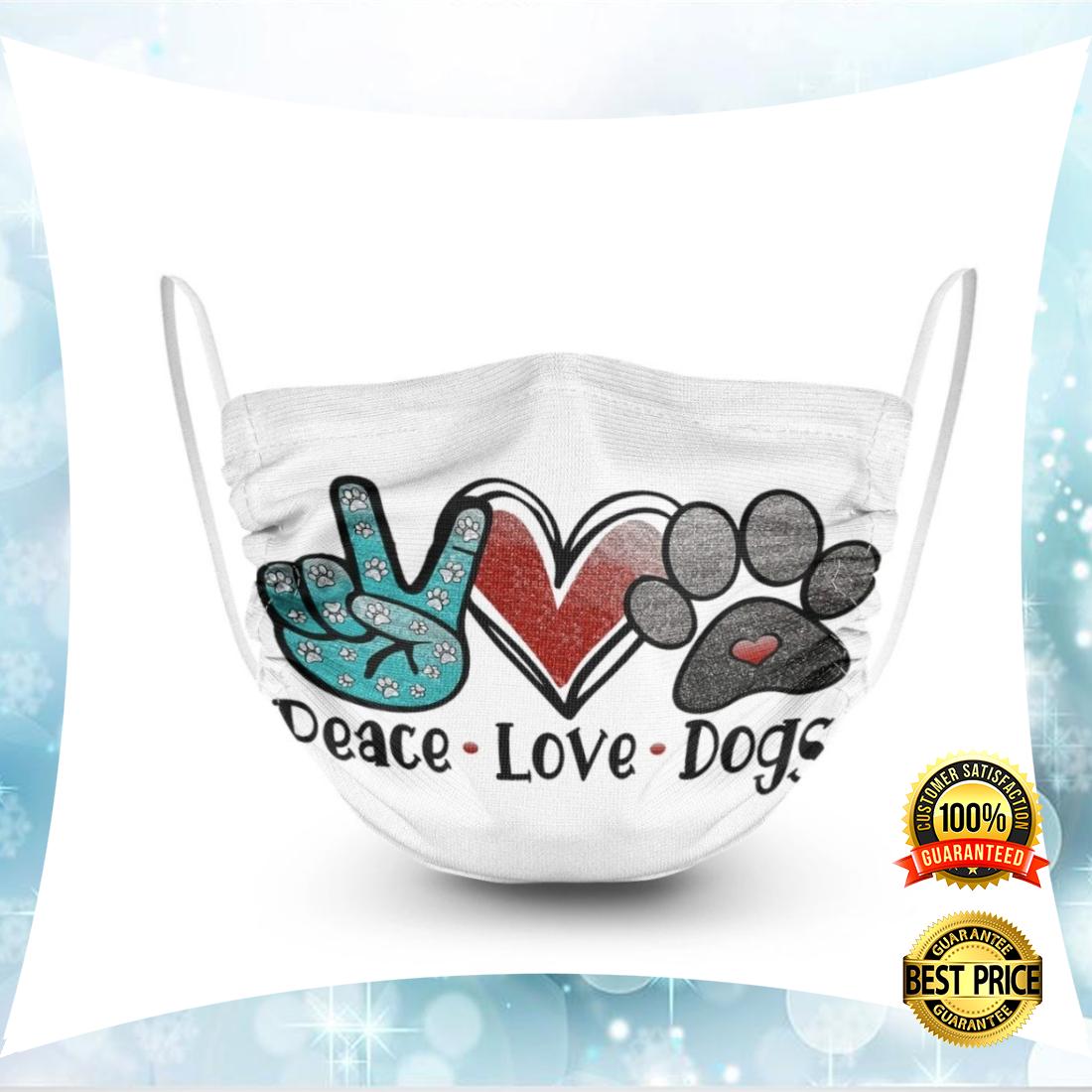 PEACE LOVE DOGS FACE MASK 5
