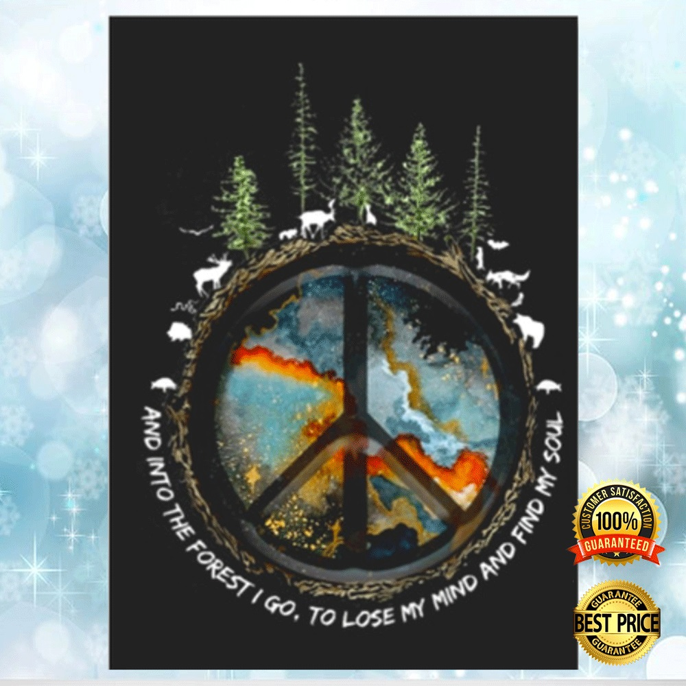 HIPPIE AND INTO THE FOREST I GO TO LOSE MY MIND AND FIND MY SOUL STICKER 4