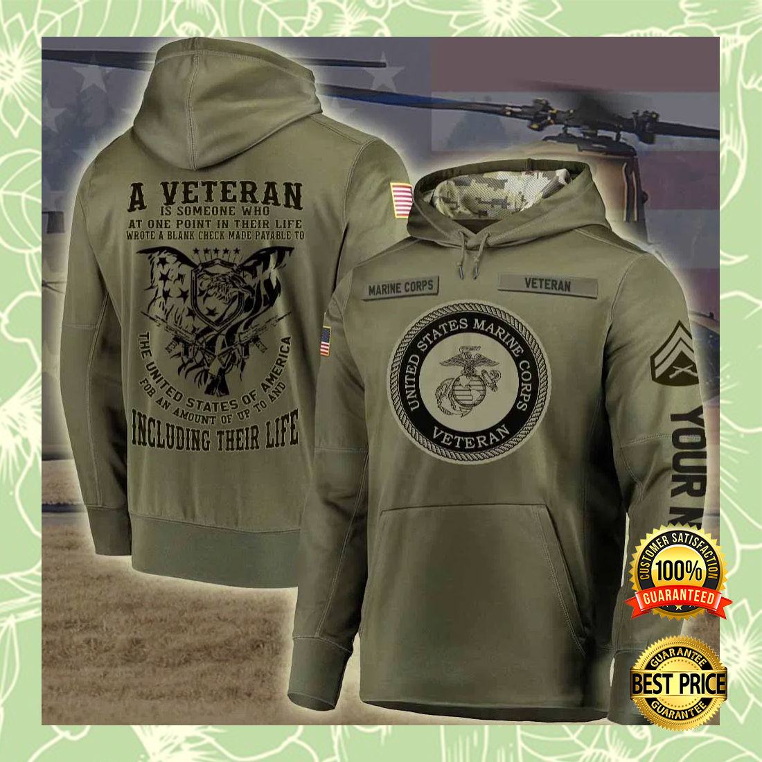 Personalized US Marine Corps A Veteran Is Someone Who At One Point In Their Life all over printed 3D hoodie 7