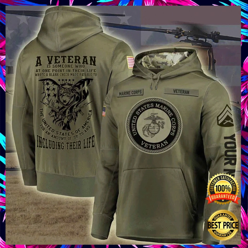 Personalized US Marine Corps A Veteran Is Someone Who At One Point In Their Life all over printed 3D hoodie 6