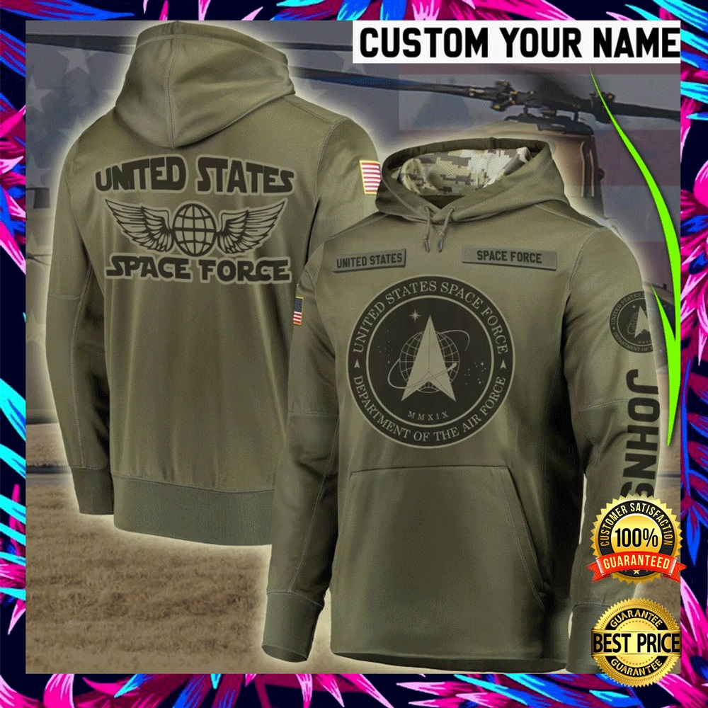 PERSONALIZED US SPACE FORCE ALL OVER PRINTED 3D HOODIE 6