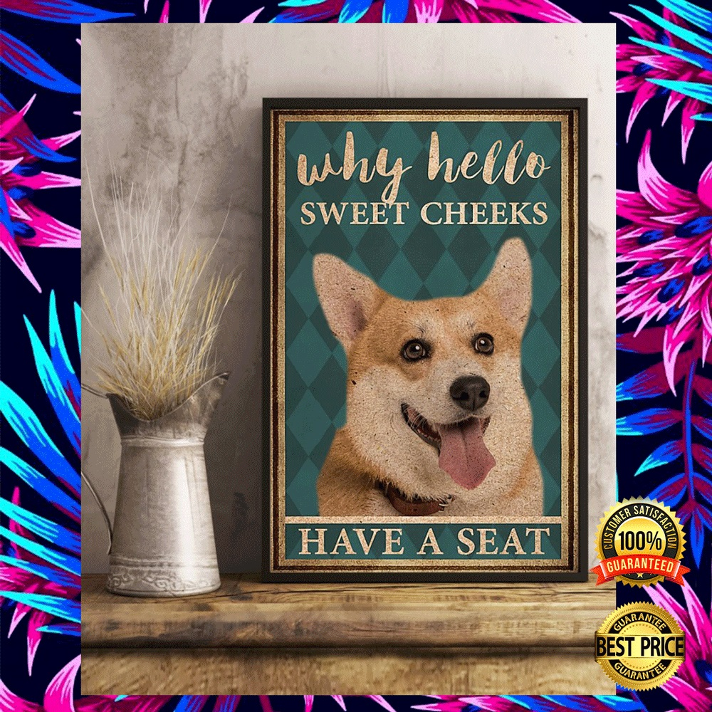 CORGI WHY HELLO SWEET CHEEKS HAVE A SEAT POSTER 6