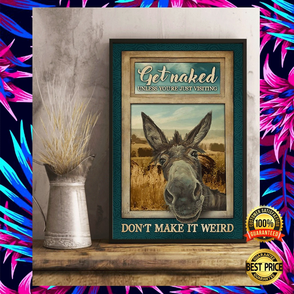 DONKEY GET NAKED UNLESS YOU ARE JUST VISITING DON'T MAKE IT WEIRD POSTER 4