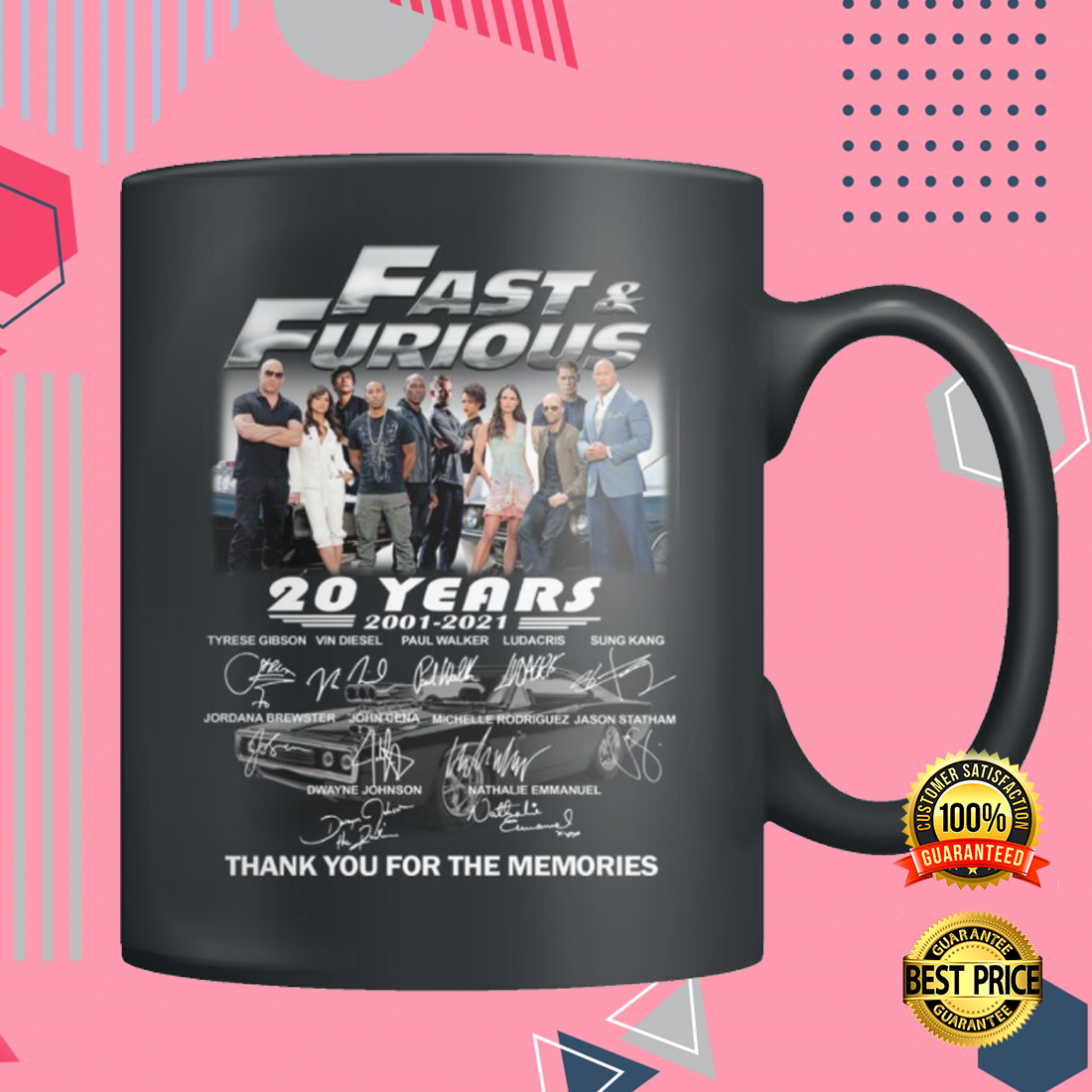 20 YEARS OF FAST AND FURIOUS MUG 4