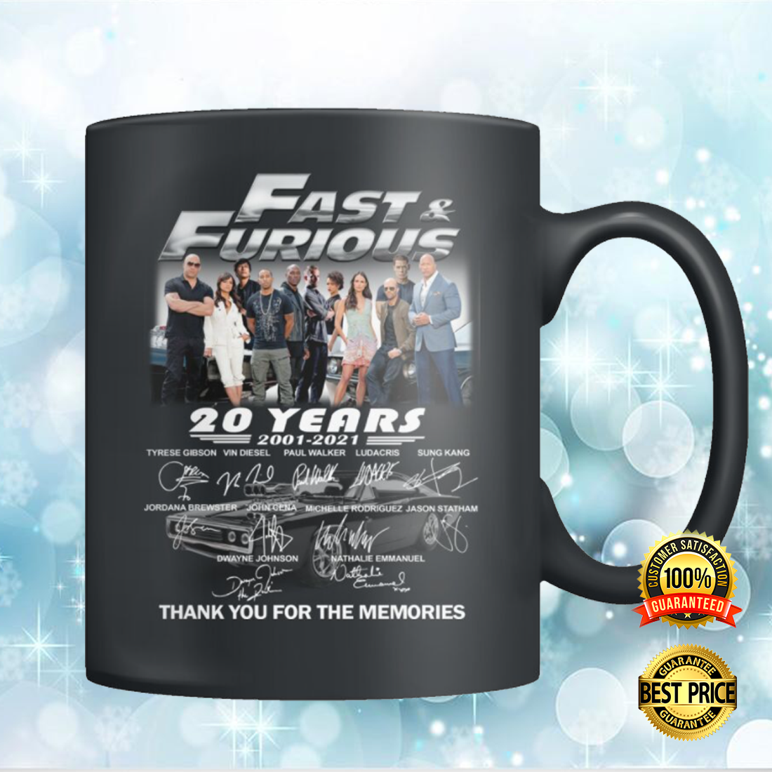 20 YEARS OF FAST AND FURIOUS MUG 5