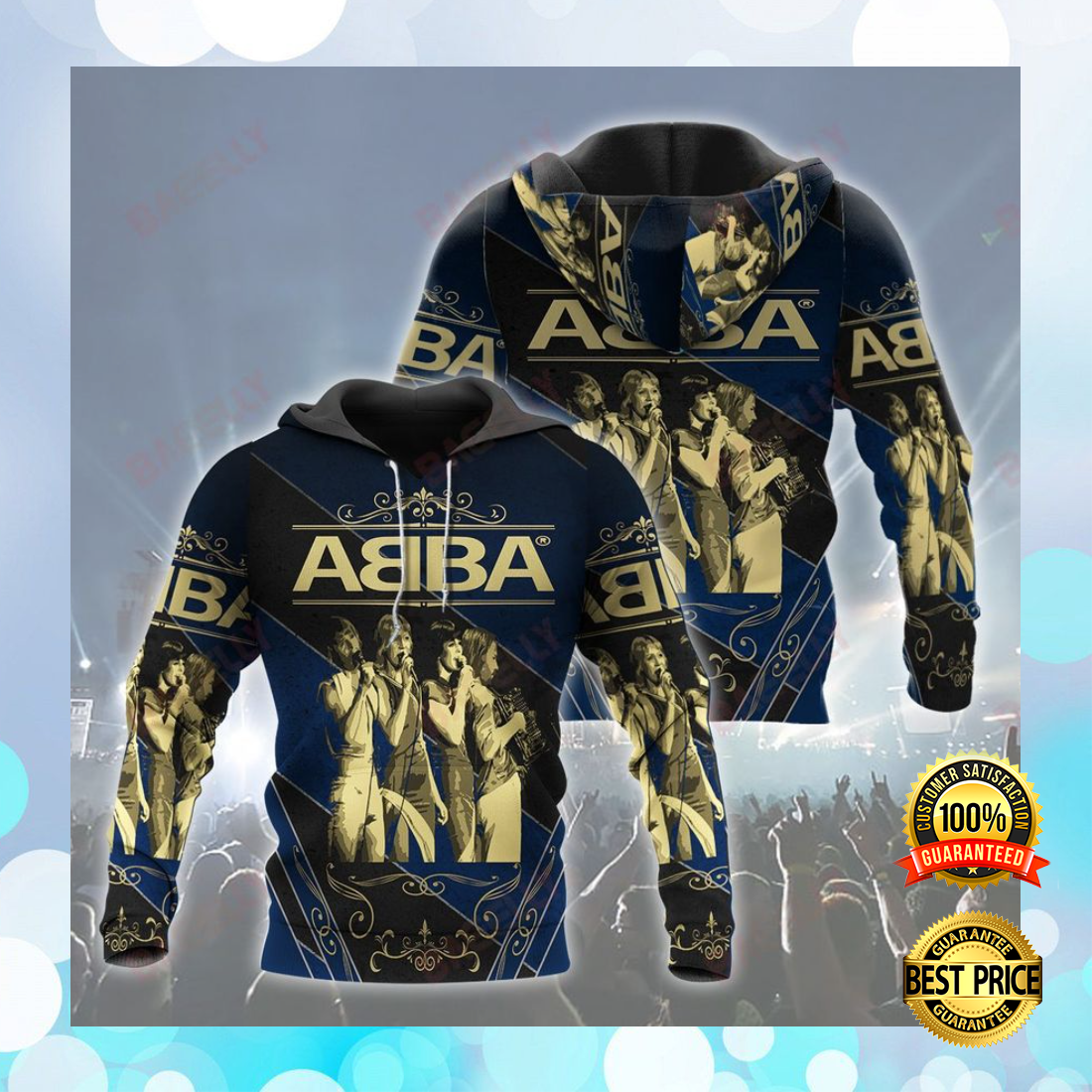 ABBA ALL OVER PRINT 3D HOODIE 5