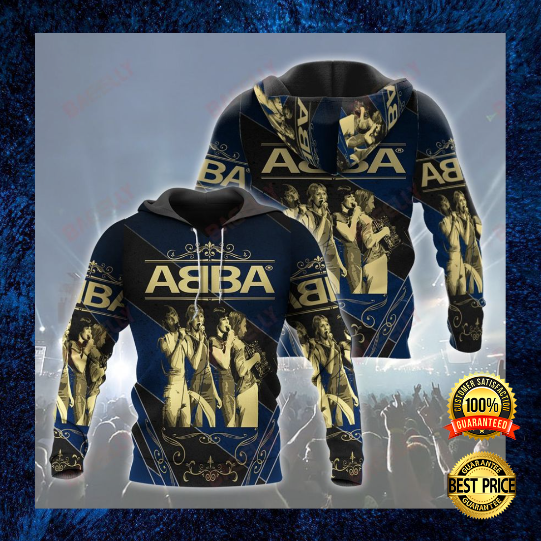 ABBA ALL OVER PRINT 3D HOODIE 7