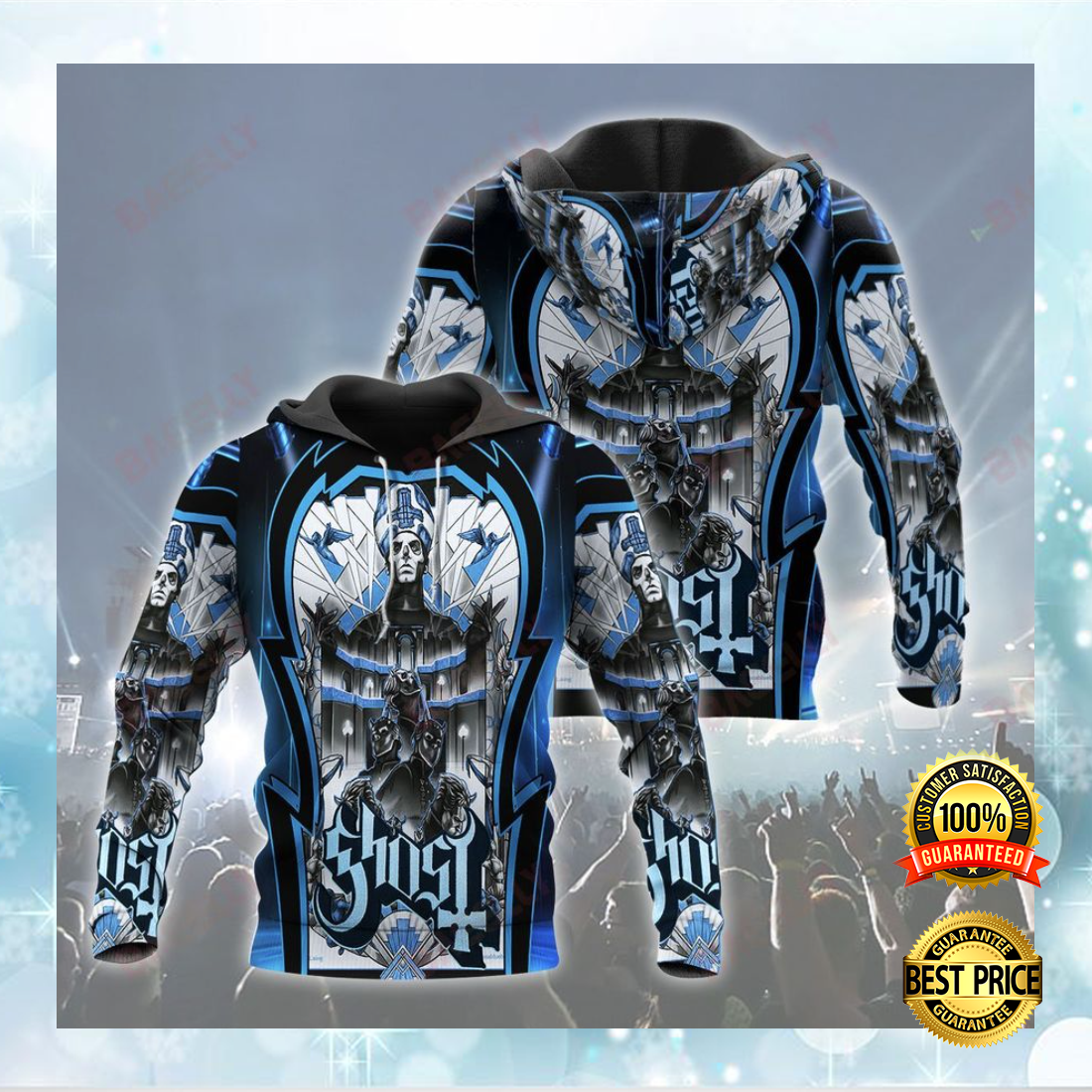GHOST ALL OVER PRINT 3D HOODIE 5