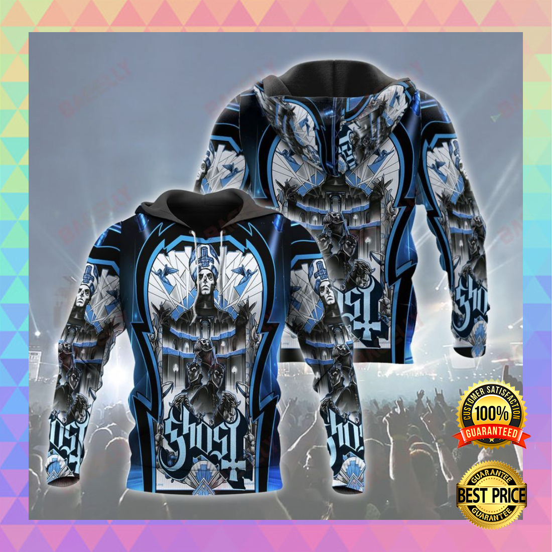 GHOST ALL OVER PRINT 3D HOODIE 4