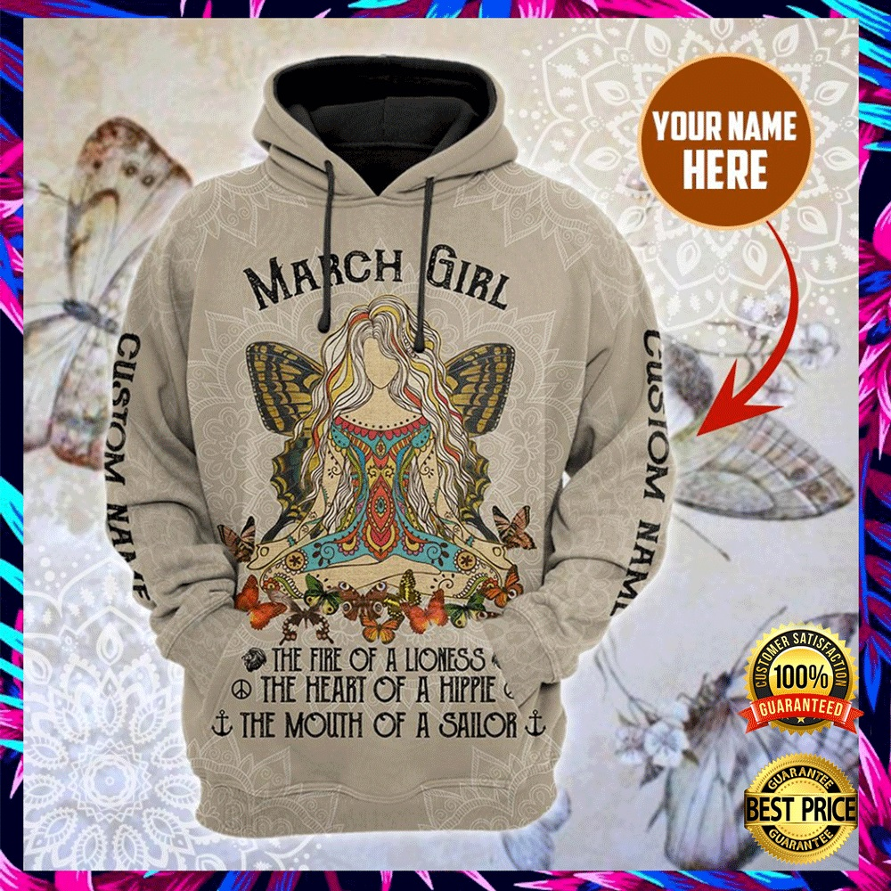 PERSONALIZED NAMASTE MARCH GIRL ALL OVER PRINTED 3D HOODIE 6