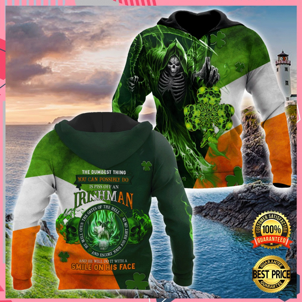 THE DUMBEST THING YOU CAN POSSIBLE DO IS PISS OFF AN IRISH MAN ALL OVER PRINT 3D HOODIE 7