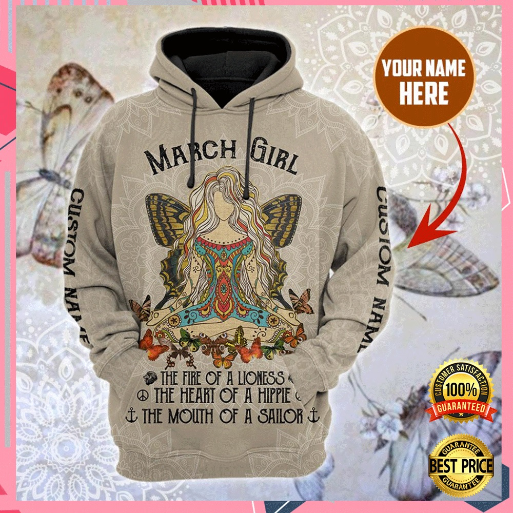 PERSONALIZED NAMASTE MARCH GIRL ALL OVER PRINTED 3D HOODIE 4