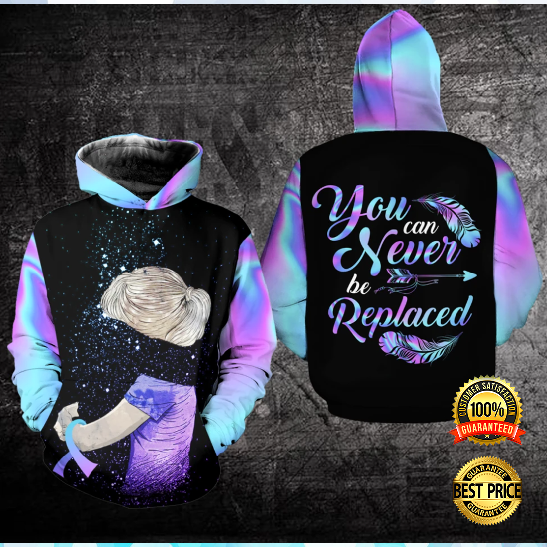 YOU CAN NEVER BE REPLACED ALL OVER PRINTED 3D HOODIE 5