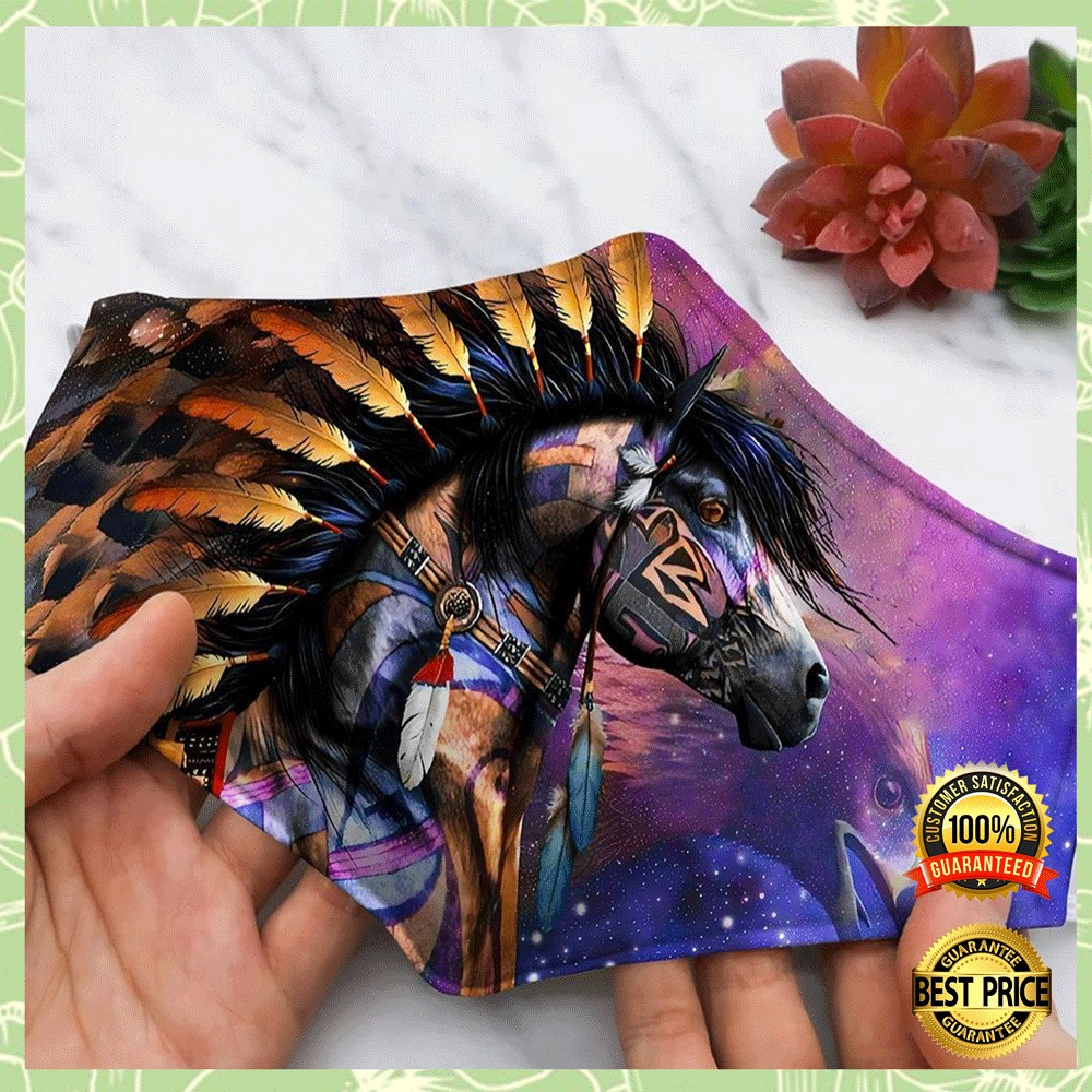 HORSE NATIVE AMERICAN FACE MASK 4