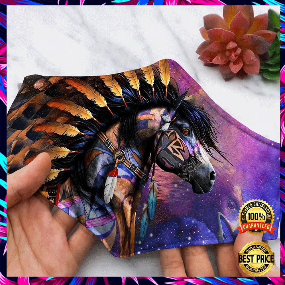 HORSE NATIVE AMERICAN FACE MASK 6