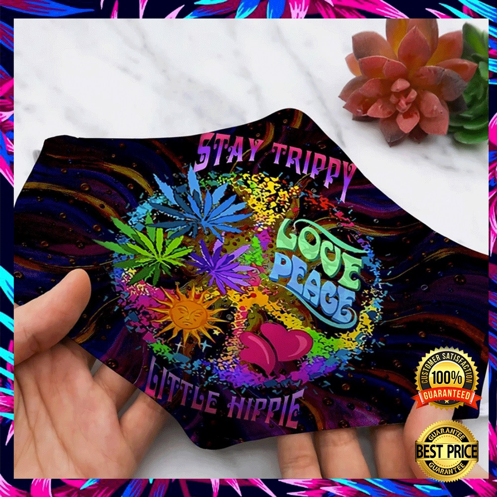STAY TRIPPY LOVE PEACE LITTLE HIPPIE FACE MASK 6