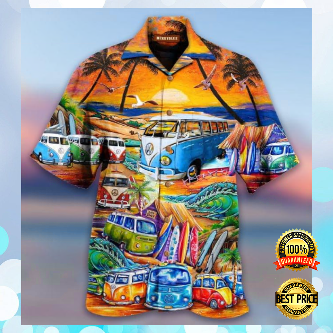 VOLKSWAGEN AND INTO THE OCEAN I GO TO LOSE MY MIND AND FIND MY SOUL HAWAIIAN SHIRT 5