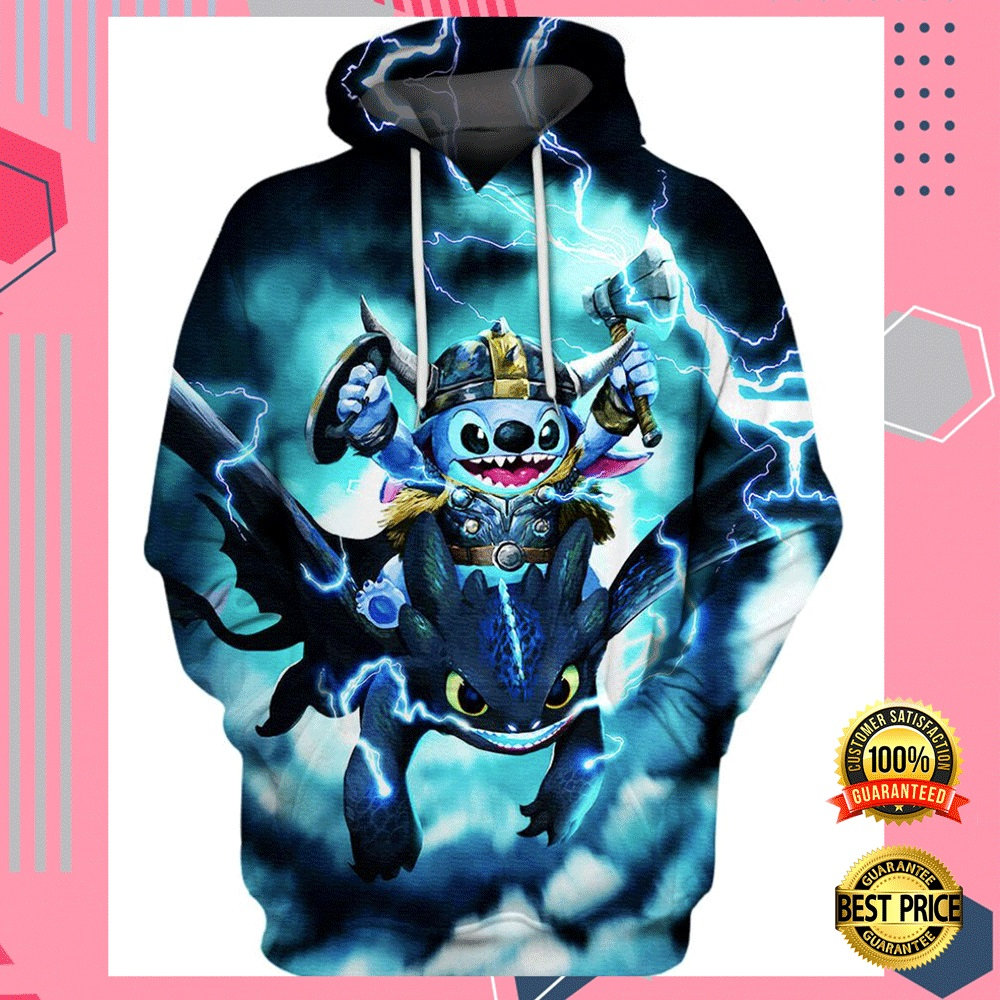 STITCH AND TOOTHLESS VIKING THUNDER ALL OVER PRINTED 3D HOODIE 4