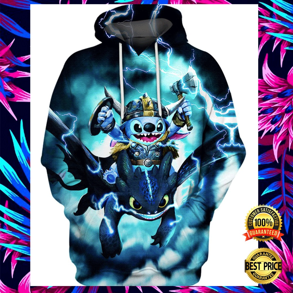 STITCH AND TOOTHLESS VIKING THUNDER ALL OVER PRINTED 3D HOODIE 7