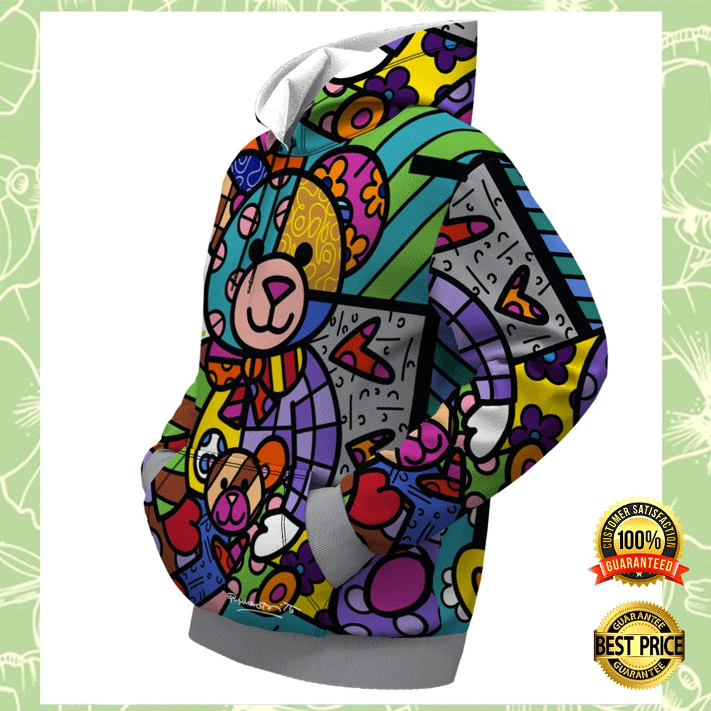 BEAR FAMILY BY ROMERO BRITTO ALL OVER PRINTED 3D HOODIE 4