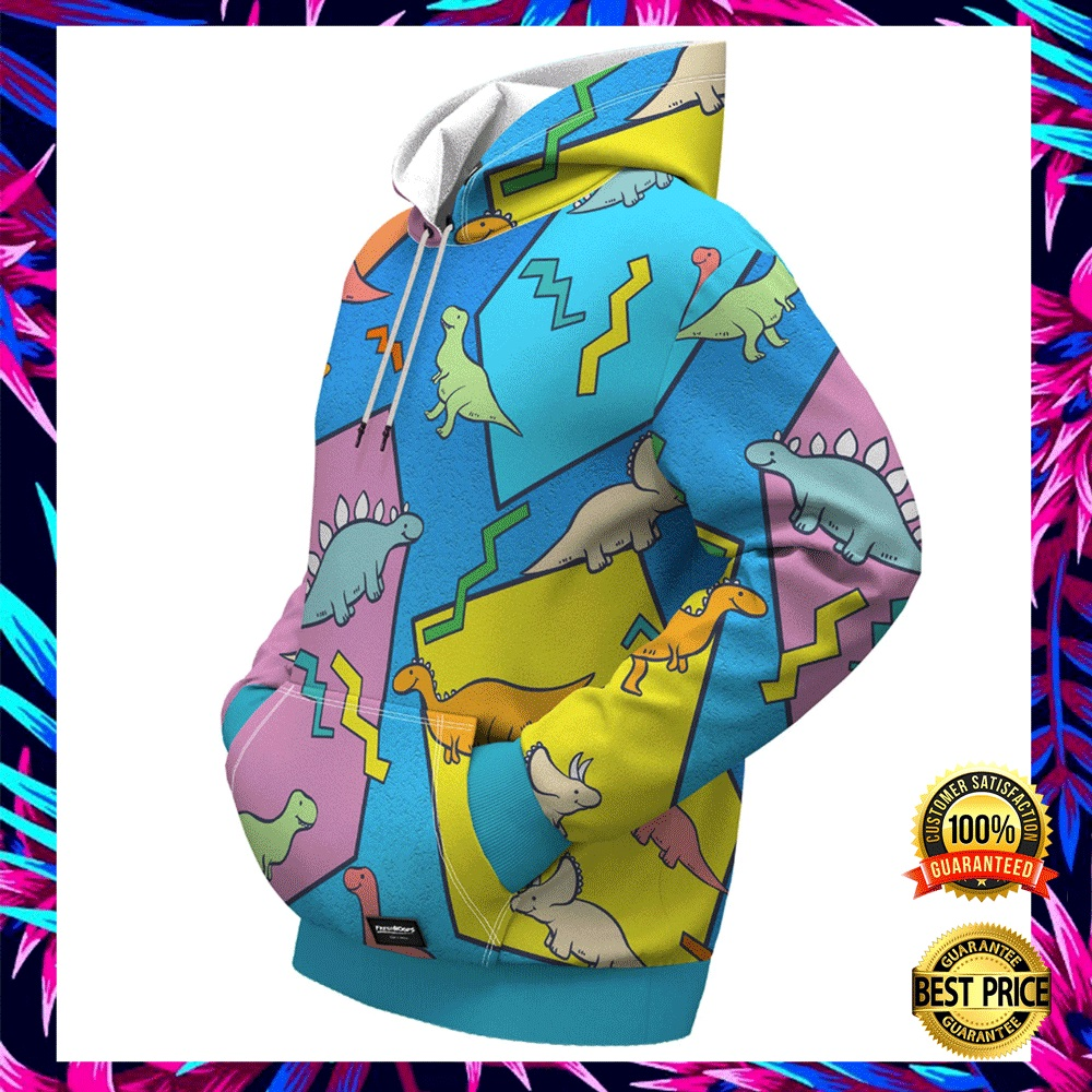 DINOSAUR BY ROMERO BRITTO ALL OVER PRINTED 3D HOODIE 5