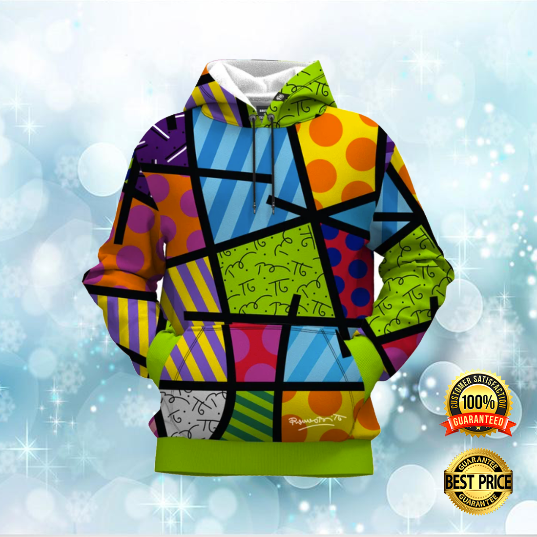 COLOR LANDSCAPE BY ROMERO BRITTO ALL OVER PRINTED 3D HOODIE 6