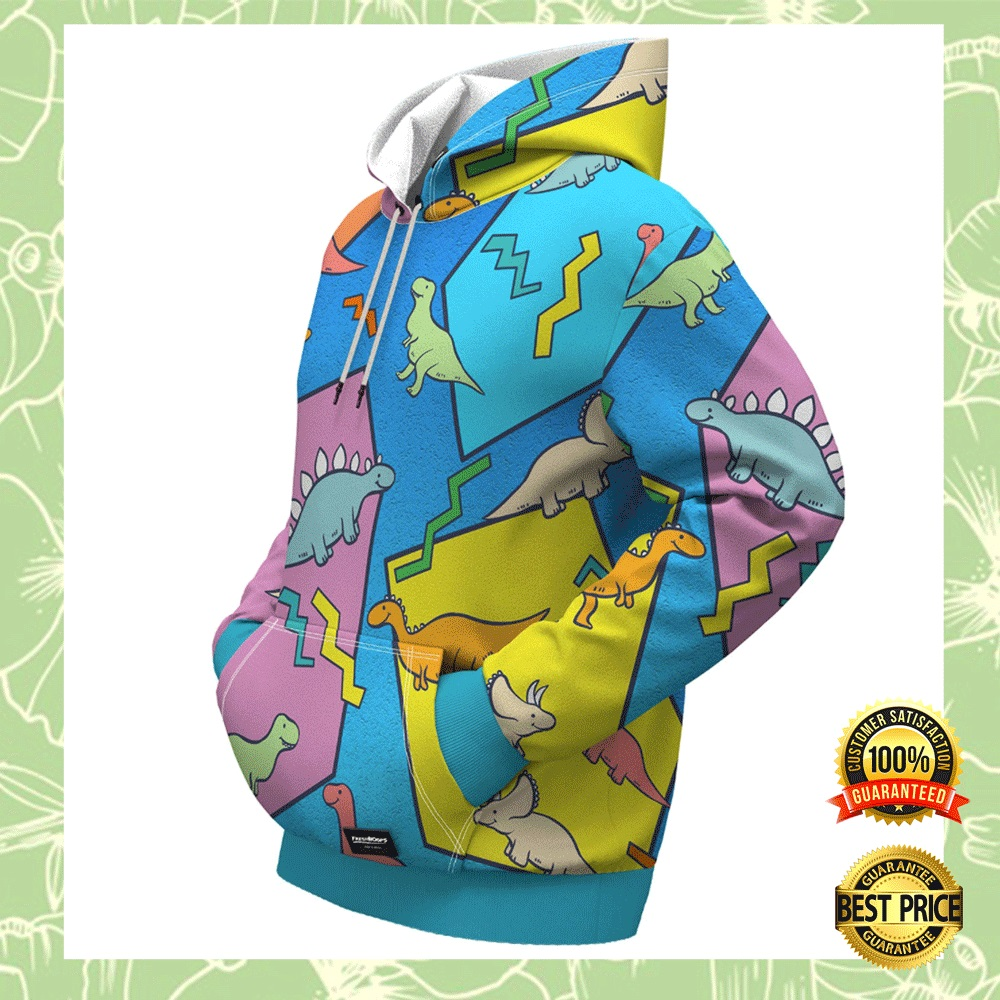 DINOSAUR BY ROMERO BRITTO ALL OVER PRINTED 3D HOODIE 7
