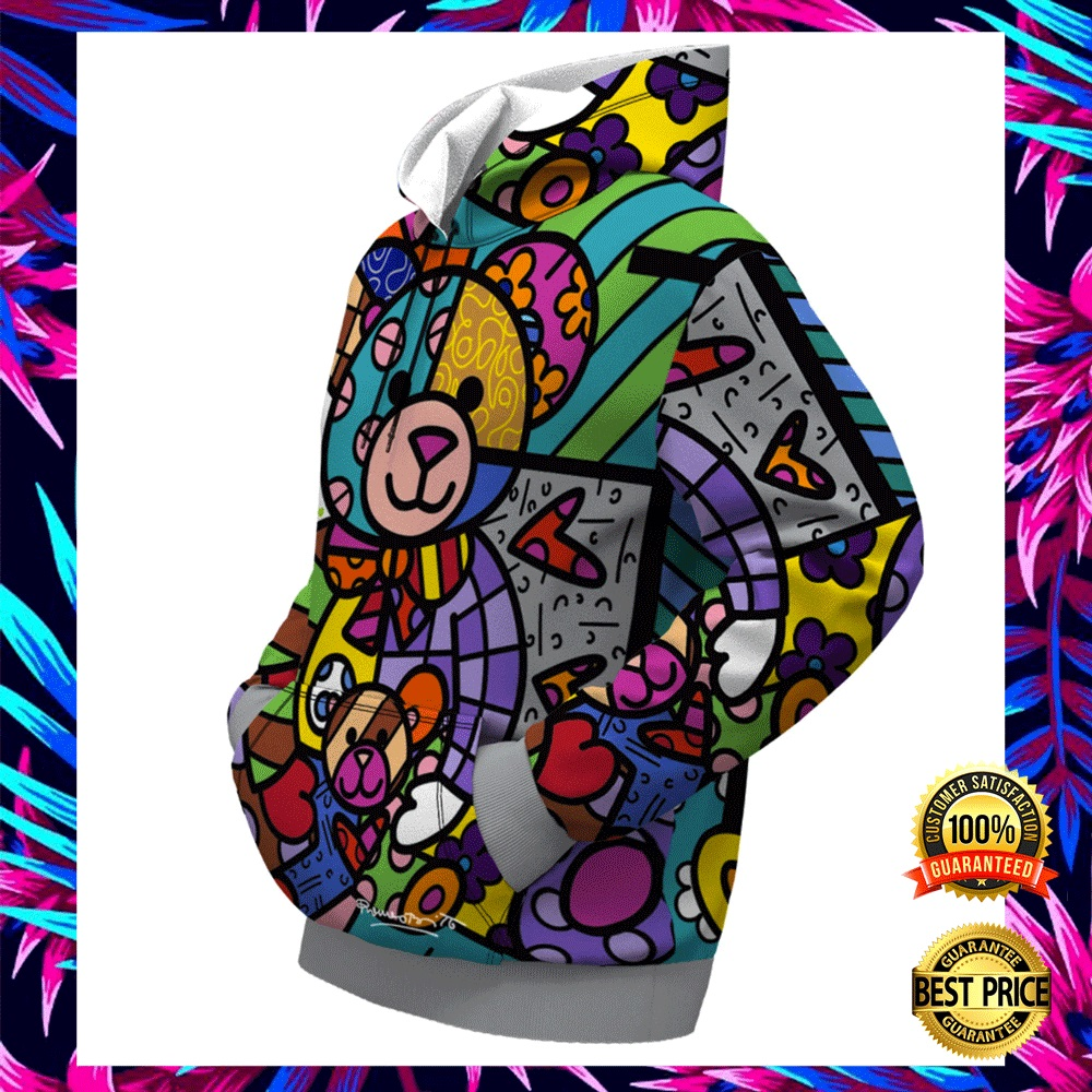BEAR FAMILY BY ROMERO BRITTO ALL OVER PRINTED 3D HOODIE 5